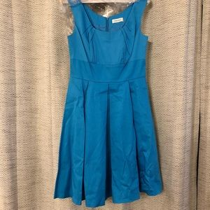 Calvin Klein Turquoise A Line Dress Size 4